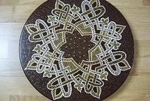 Plateaux / Des plateaux en bois peints à la main dans un style oriental. Mettez un plateau en centre de table, succés garanti!