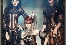 Steampunk Corset Inspiration / Steampunk Inspired Corsets and clothing influences from subcultures such as Victorian, Gothic, Punk, Steam, and Cyberpunk.