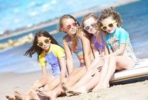 Rockley Cove Look Book SS 2014 / Bikinis from £18.99. Matching rash vests from £22.99.  All fabric offers UPF50+ protection.