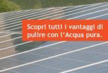settore VETRI E FOTOVOLTAICO / Sistemi di #pulizia per #vetri esterni, interni e #pannelli fotovoltaici