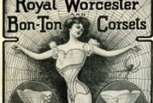 Vintage Corset Adverts and Advertisement / Vintage Corset ads and advertisement and corsetry vintage adverts in newspapers, shop windows, magazines from the late 1800s, early 1900s and onwards. Vintage corset advertisement in the Victorian times, Edwardian times. Rare Vintage corset 1900s ads