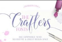 The Crafters Fonts Bundle / This is a NEW feature rich font bundle that has SPECIAL PUA coding that allows super cool swashes, y'know, the curlie swirlies on the letters that make them all beautimus and awestastic looking in your Creative works of art!!! Yeah, this has a BUNCH of those, for an UBER low price of $15. We can easily use them with our cutters and their software program. Including the Brother ScanNCut with SCAL4, Cricut, and Silhouette with their respective programs. Offer ends Nov 15