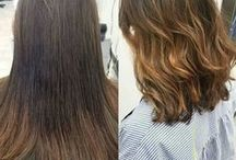 Before & After / Before & After looks created by Hair Cuttery stylists! To see more looks, visit our #MyHCLook photo gallery on the Hair Cuttery blog page!