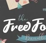 The Free Font Bundle / As a thank you for all who supported us and helped us become better by choosing and recommending TheHungryJPEG, we have decided to give you a cool FREE font bundle!   With this free bundle you will get 26 fonts from 15 families, worth $104!! Simply share it with your friends to unlock the bundle!