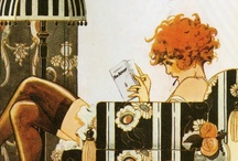 Les Années Folles et l'Art-Déco / Le courant Art Déco s'inscrit en réaction à l'Art Nouveau d'avant la Première guerre mondiale qui prônait les arabesques. L'Art Déco renonce à la courbe pour des formes épurées, architecturées et des lignes géométriques. Très vite populaire, le mouvement gagne tous les arts et notamment les arts décoratifs.