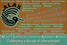 ~ ALAS ~ Alianza Latina en contra la Agresión Sexual / Established by Arte Sana in 2004, the Alianza Latina en contra la Agresión Sexual (ALAS) is the national Latinx-led membership network of victim advocates, community leaders, and promotoras working to address and prevent sexual violence. ALAS members represent a diverse spectrum of Latin@ advocacy work from the direct services to the state and national coalition level. Since 2005, ALAS members have been national leaders promoting training in Spanish. http://www.arte-sana.com/alas.htm