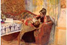 Tableaux d'allaitement / L'allaitement dans l'art pictural. / by Véronique Darmangeat Consultante en lactation