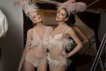 SIL 2014 - Backstage / Backstage of lingerie runway shows - Salon International de la Lingerie - Jan.2014 - Paris