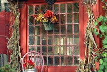 """Yard Art/Potting,Sheds! / Here it is! A compilation of every """"GARDENERS"""" dream. From the shed to the pots, complete with the focal points to set off your plantings!  / by Elaine"""