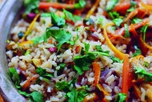 Rice, Grains & Beans (Vegan) / Be sure to check out my other vegan boards, I have several. / by Ann S Ⓥ