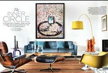 Mid-century interiors, 50s, 60s / Interiors designed in 50s and 60s mood