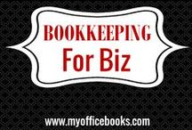 BOOKKEEPING FOR BUSINESS / Small business bookkeeping can be difficult, you work in your business and then you are expected to work on your business. Bookkeeping always seems to be the last thing you want to do. This board shares small business tips, ideas and some helpful information to help inspire you to get your bookkeeping work done.