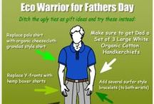 Turn Dad into an Eco Warrior / For Fathers Day turn Dad into an Eco Warrior with a set of 3 Large White Organic Cotton Handkerchiefs from The Organic Handkerchiefs Company