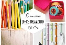 OFFICE  ORGANISATION / This is my dream board of fancy & colorful office accessories I would love to have in my office. I also like organisation ideas. #Myofficebooks