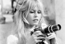 Women and their Cameras / Celebrity women photographed taking photos / by Robert Amsler