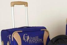 JMU luggage and backpack / Blue college luggage