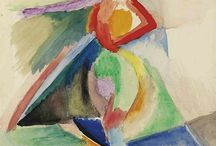 Sonia Delauney- Terk (and Robert) / Sonia Delaunay (November 14, 1885 – December 5, 1979) was a Ukrainian-born French artist, who spent most of her working life in Paris and, with her husband Robert Delaunay and others, cofounded the Orphism art movement, noted for its use of strong colours and geometric shapes. Her work extends to painting, textile design and stage set design. She was the first living female artist to have a retrospective exhibition at the Louvre in 1964, and in 1975 was named an officer of the French Legion of Honor. Her work in modern design included the concepts of geometric abstraction, the integration of furniture, fabrics, wall coverings, and clothing. Wiki