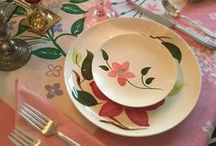 Casual Vintage China / These vintage china patterns at Southern Vintage Table have so much character!  From sweet florals to big and bold designs to classic wildflower stoneware, this collection encompasses a wide range of patterns, colors and looks. Whatever theme you choose from the casual collection, the myriad of table settings will definitely be a great conversation starter for your affair! - Southern Vintage Table