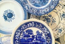 Classic Blue Vintage China / The color blue is a blue-ribbon winner on the vintage Southern table!  Add sparkling blue goblets and tumblers with vintage stainless steel flatware patterns and you'll get rave reviews from your guests!