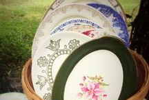 Vintage Serving Dishes / Serve your delicious recipes on our beautiful vintage bowls, platters and compotes.  Southern Vintage Table has a wide range from elegant to casual in many patterns and colors.