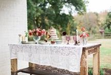 Vintage Linens / Add another element of vintage with lovely vintage napkins and tablecloths!  Whether they are lacy, embroidered, damask, linen or fine cotton,  vintage linens will be so appreciated by your guests!  - Southern Vintage Table