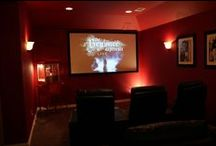 Custom Home Theater -- Frisco, TX / A beautiful all-customized home theater room done by the expert techs at Honest for a customer in his Frisco home.