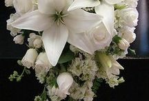 wedding flowers / Bridal bouquet, bridesmaids' flowers, buttonholes, corsages