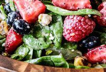 Yummy salads, dressings, condiments