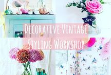 Decorative Vintage Styling Workshop / Join Katie from The Vintage House That Could and Tamsyn from The Villa on Mount Pleasant for an afternoon of vintage styling, pretty props and afternoon tea xx
