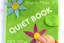 Quiet Books / Everything quiet book related, including quiet book tips, fabric and felt quiet book pages, and a variety of no-sew quiet books. #quietbooks #busybooks / by Dyan (And Next Comes L)
