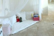 Play Spaces for Kids / Ideas and tutorials for decorating and organizing playrooms, nurseries, and children's rooms
