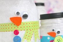 Winter Activities & Crafts / Activities and crafts for kids with a winter theme.  Snowmen, snowflakes, winter, etc. / by Dyan (And Next Comes L)