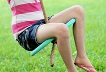 Swings & Climbing Things / Homemade and DIY swings, climbers, ladders, jungle gyms, and other playground type things for kids.  Great ideas for kids with autism or sensory issues as well. / by Dyan (And Next Comes L)