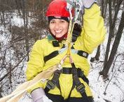 Winter Zip Lining and Outdoor Fun / New ideas for things to do outside during the winter time