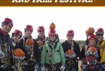 Zip Line Pumpkin Drop / Annual Pumpkin Drop on the 1,200 foot Duel Racing Zip Line.