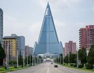 Pyongyang Architecture / Raphael Olivier portrayed the architecture of one of the most isolated and unknown cities in the world: Pyongyang. Soviet imprint and North Korean regime influences, austere monumentalism and raw concrete. http://www.archipanic.com/pyongyang-architecture/