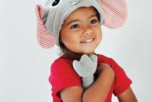 Carnaval / dierenpakjes 1-6 jaar 15 beestachtig leuke mutsen en staarten voor kindjes van 1-6 jaar. Fairtrade & origineel!