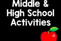Middle/High School / Here are some middle and high school ideas and resources by various TPT sellers and bloggers.