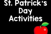 St. Patrick's Day / Green, 4-leaf clovers, and leprechauns! Here are some marvelous ideas and activities to celebrate the green holiday!