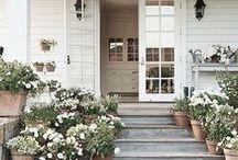 Exteriors & Curb Appeal / Curb Appeal | Exteriors | Exterior Design | House Exterior | Curb Appeal Ideas | House Plans | Exterior Design | Doors | Front Doors | Front Porches | Porches | Farmhouses | Farmhouse | Houses | Homes | Landscape
