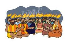 Pentecost / Slides from my Bible story PowerPoint presentations. Sunday School craft & games ideas.