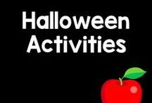 Halloween Board / Boo! Costumes, candy, and Trick-or-Treating! Here are some scary, wonderful ideas, games, and activities for Halloween!