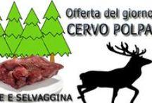 Carne Selvaggina / Prodotti carne selvaggina - cervo polpa - cinghiale polpa - lepre polpa - capriolo polpa - arrosticini ovini - lumache Borgogna - rane coscette