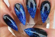 Its ALL about the Glitter... / Inspirational board for all things glitter.  Shiny, bright, flashy, glitter inspirational nails found here. Get your shine on #SuperNail #SuperNailProfessional #Nails #GelNails #GlitterNails #instanails #beauty