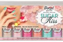 ProGel - Sugar Kiss Collection / Start a color love affair this Spring with the sweet shades in SuperNail® ProGel™ Sugar Kiss collection.  Bring on the romance with six dreamy 100% pure gel polish shades. Clients will fall madly in love with luxe shimmers, blushing pastels and captivating crèmes perfect for creating fairytale nails all season long.