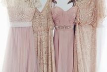 Bridesmaid / From mismatched colors and styles to long gowns and sparkly sequin numbers, get inspired by these bridesmaid dresses!