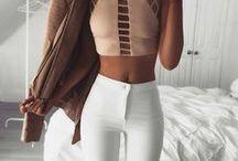 Outfits / Moda / Pasta cheia de looks inspiradores, quase sempre numa vibe neutra e entre combinações para o dia a dia e looks mais chiques e festivos <3