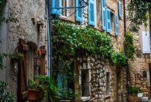 Travel, France / Provence / Paris / Houses / Flowers / Lavender / Bread / Cheese / Bridges