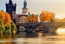 Travel, Czech Republic / Prague / Buildings / Bridges / Streets / Parks