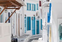 Travel, Greece / Santorini / Mykonos / Islands / Sea / Beaches / Zakinthos / Buildings / Streets